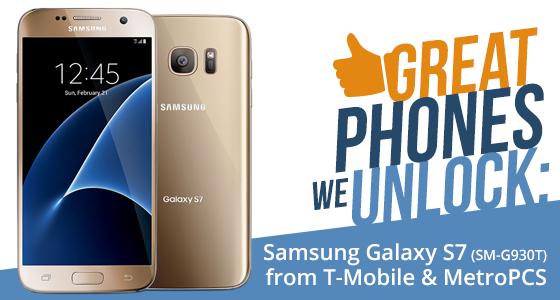 Unlock Samsung Galaxy S7 (SM-G930T)