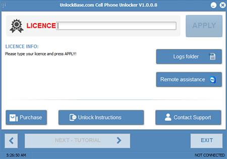 Unlockbase Cell Phone Unlocker v1.0.0.8