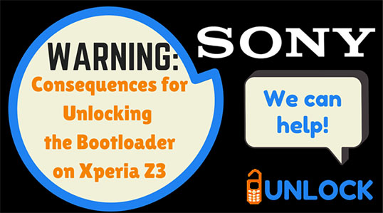 Warnings from Sony about Unlocking the Bootloader on Xperia Z3
